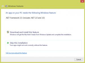 .NET Framework 3.5 as an optional Windows component
