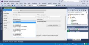 Visual Studio Multi Targeting